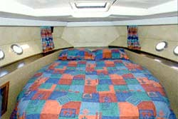 An example of a fixed double berth