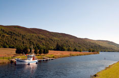 Caledonian Canal in the summer