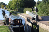 Entering a canal lock