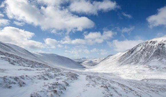 Snow in the Cairngorms